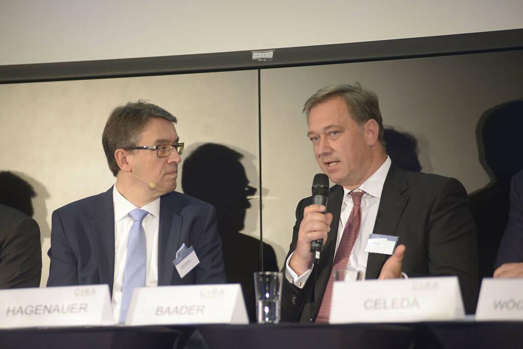 Harald Hagenauer (Österr. Post), Nico Baader (Baader Bank AG)