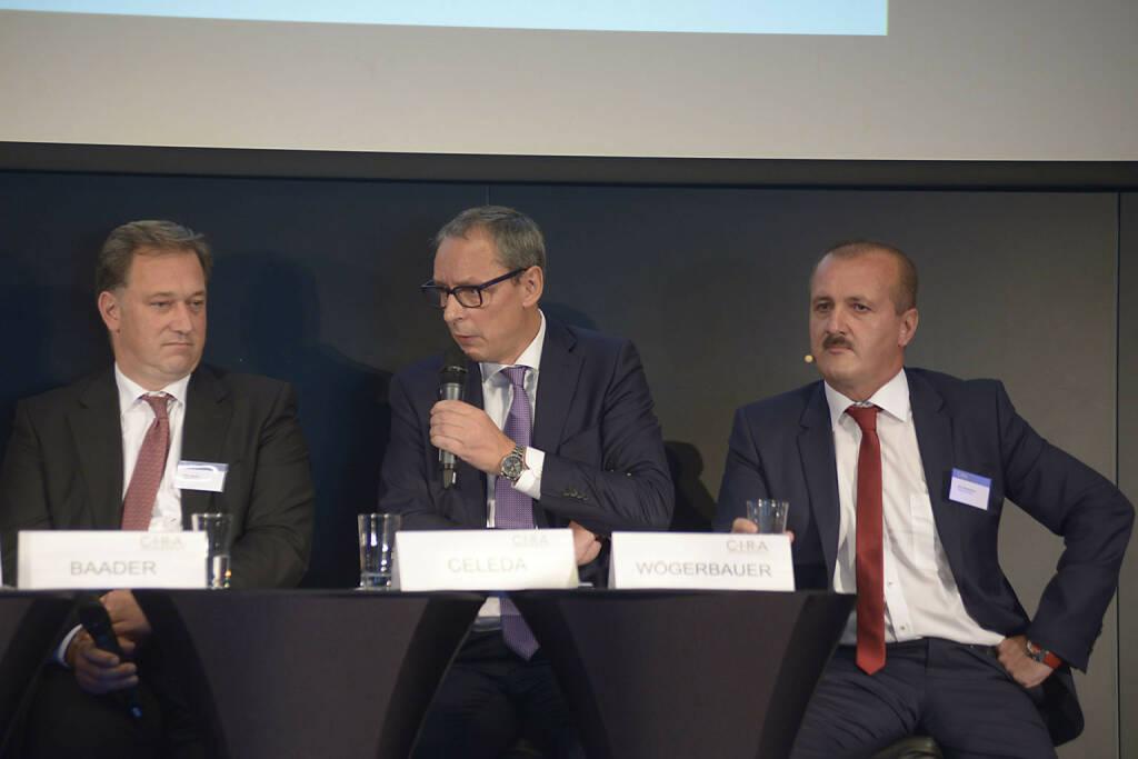 Nico Baader (Baader Bank AG), Willi Celeda (Raiffeisen Centrobank AG), Alois Wögerbauer (3 Banken-Generali Investment-Gesellschaft m.b.H.)