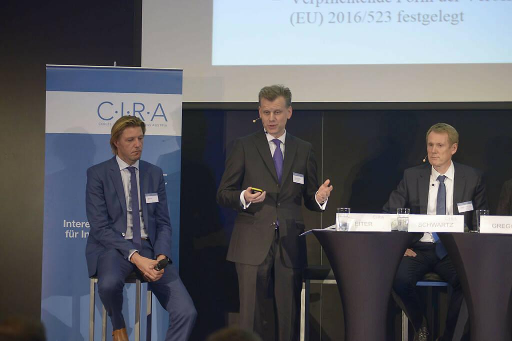 Klemens Eiter (BDO Austria GmbH), Clemens Hasenauer (CHSH Cerha Hempel Spiegelfeld Hlawati), Gerhard Schwartz (Ernst & Young)
