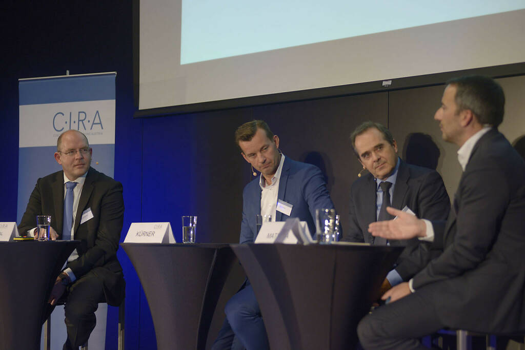 Götz Schlegtendal (Kirchhoff Consult AG), Gerhard Kürner (Lunik 2), Wolfgang Matejka (Matejka & Partner Asset Management GmbH), Manuel Taverne (FACC AG / C.I.R.A.)