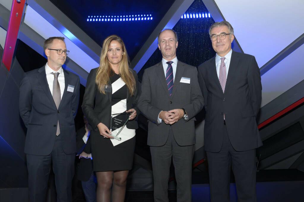"""Milena Ioveva (UBM AG) und Stephan Sweerts-Sporck (Mayr-Melnhof Karton AG) als """"IR-Manager mit dem besten Auftreten"""""""