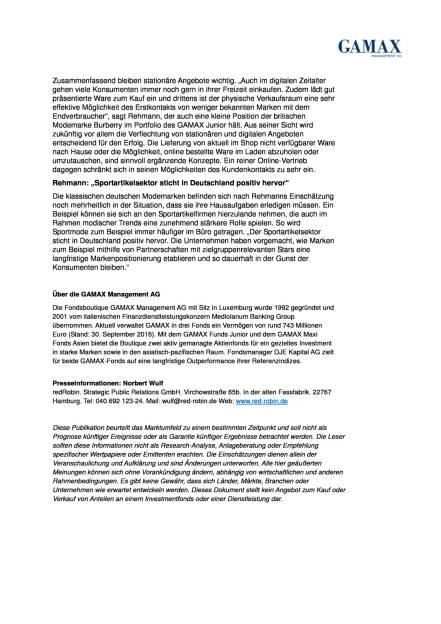 GAMAX-Markenexperte Moritz Rehmann: Textilbranche, Seite 2/2, komplettes Dokument unter http://boerse-social.com/static/uploads/file_1927_gamax-markenexperte_moritz_rehmann_textilbranche.pdf
