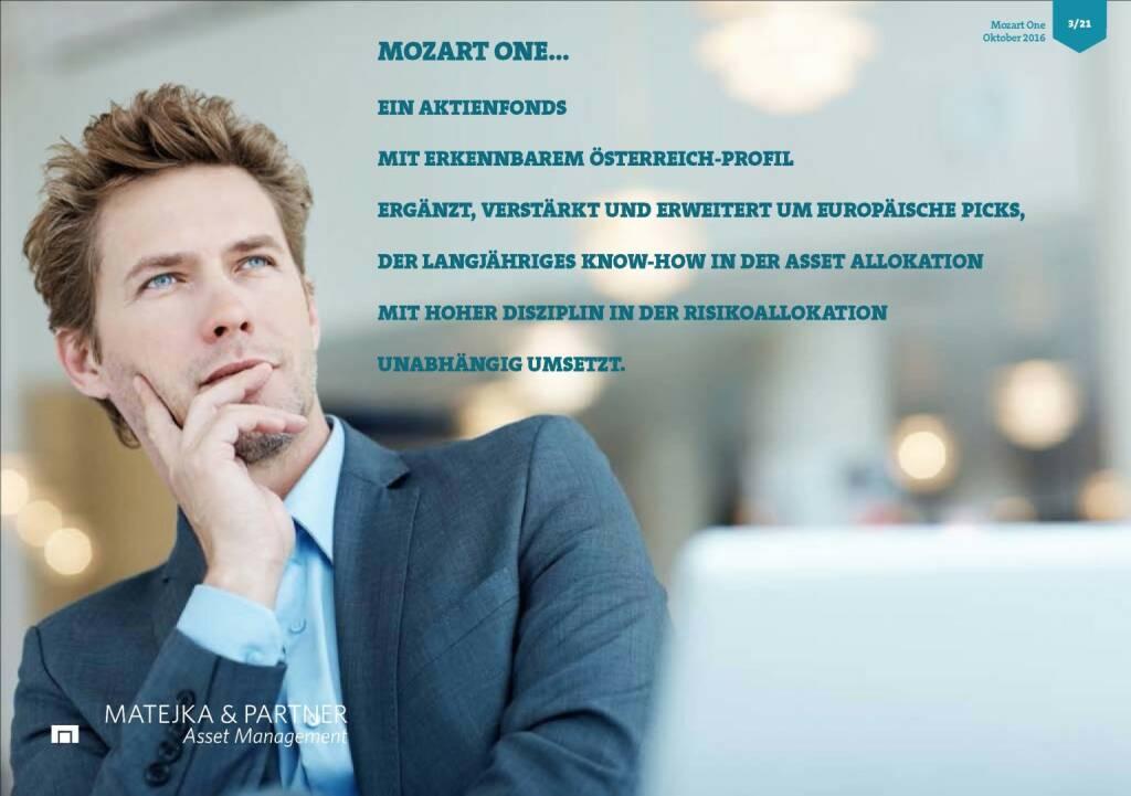 Wolfgang Matejka (Mozart One) - Ein Aktienfonds (25.10.2016)