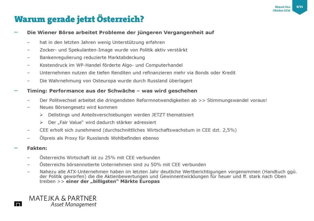 Wolfgang Matejka (Mozart One) - Warum gerade jetzt Österreich (25.10.2016)