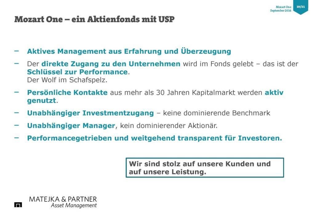 Wolfgang Matejka (Mozart One) - USP (25.10.2016)