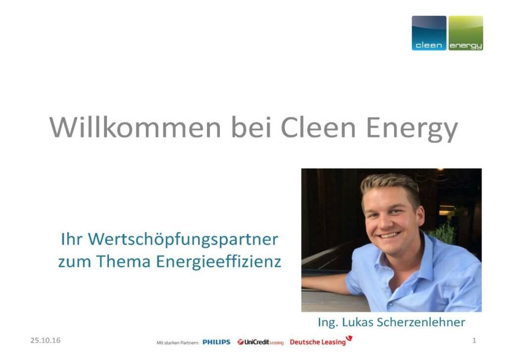 Cleen Energy - Willkommen (25.10.2016)