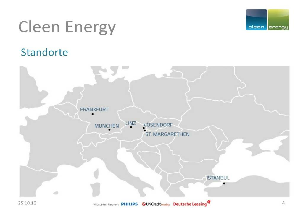 Cleen Energy - Standorte (25.10.2016)