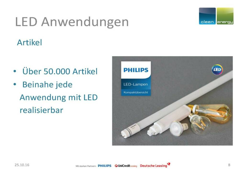 Cleen Energy - LED Anwendungen (25.10.2016)