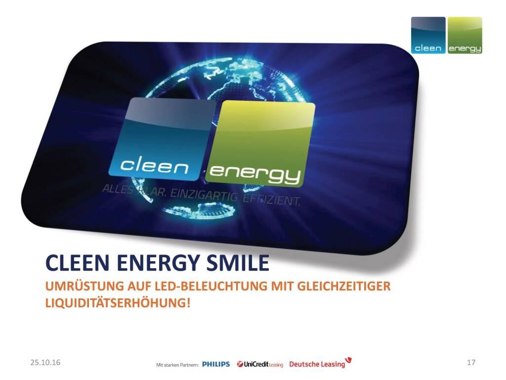Cleen Energy - Smile (25.10.2016)