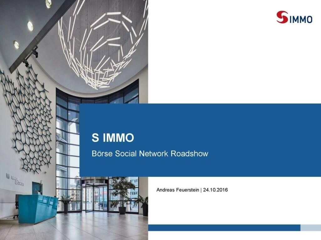 S Immo - Roadshow (25.10.2016)