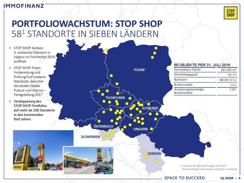 Immofinanz - Portfoliowachstum Stop Shop (25.10.2016)