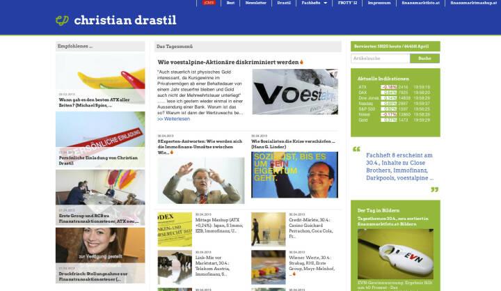 http://www.christian-drastil.com am 29.4.2013 Abends