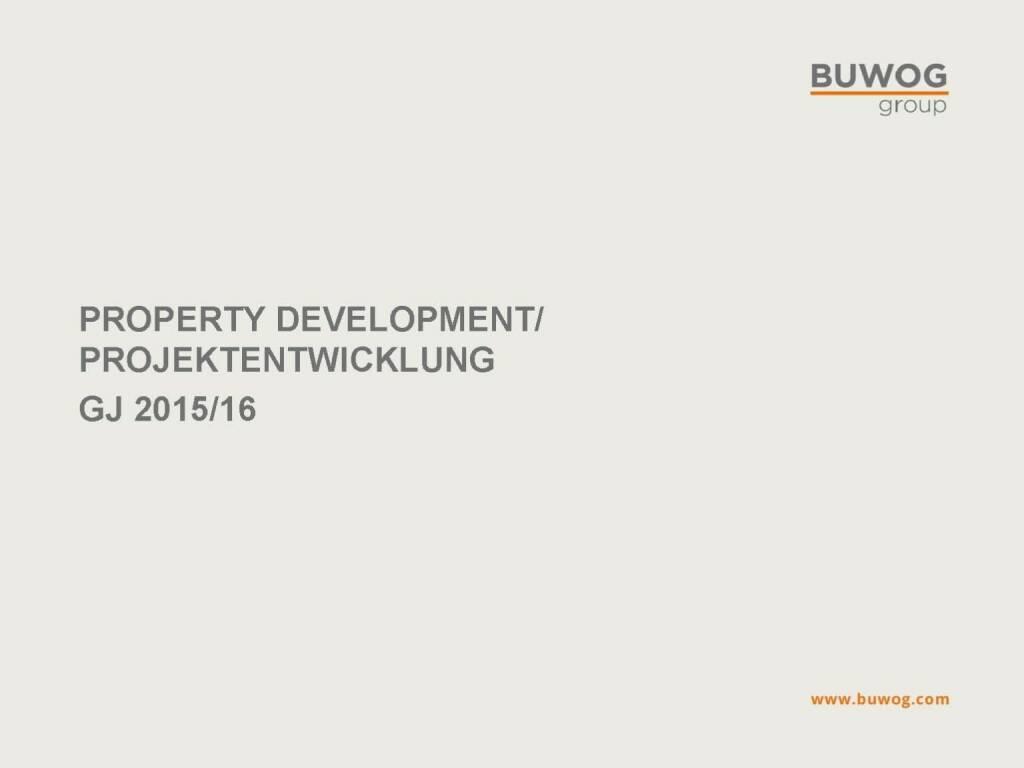 Buwog Group - Property Development (25.10.2016)