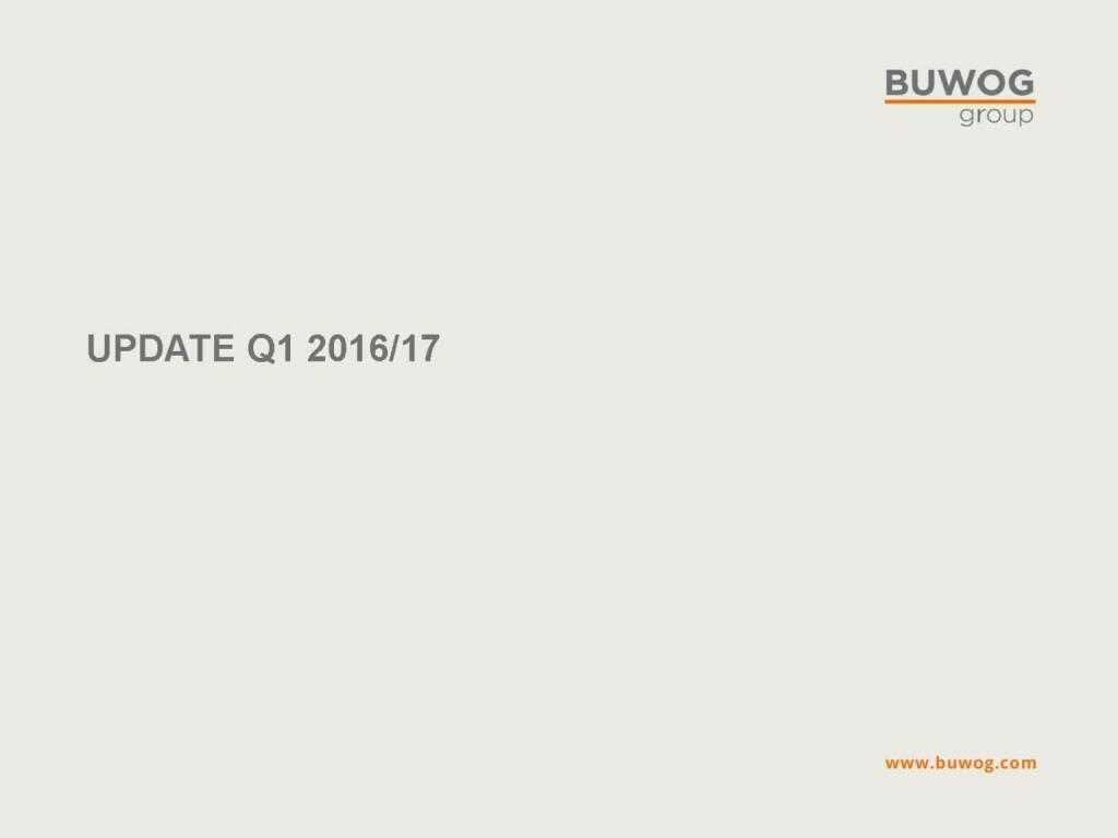 Buwog Group - Update Q1 2016/17 (25.10.2016)