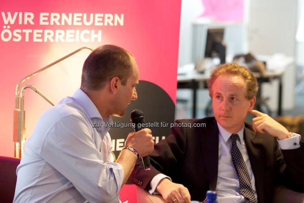 Neos: Podiumsdiskussion in der Neossphaere am 30. April 2013 mit Matthias Strolz und Georg Kapsch http://www.alexhalada.com (01.05.2013)