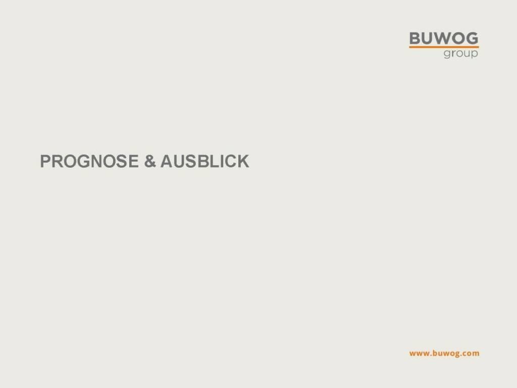Buwog Group - Prognose & Ausblick (25.10.2016)