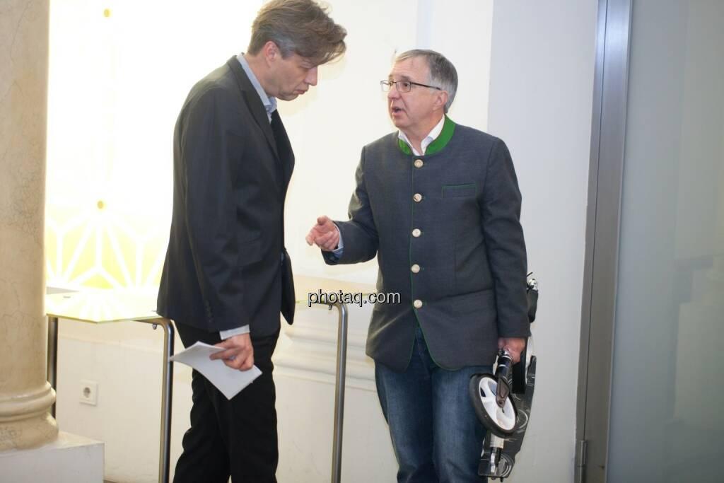 Robert Gillinger (Börse Express) im Gespräch mit Berthold Berger, © Michaela Mejta (25.10.2016)