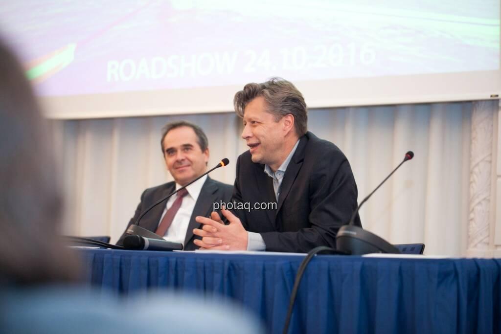 Wolfgang Matejka (Matejka & Partner), Robert Gillinger (Börse Express), © Michaela Mejta (25.10.2016)
