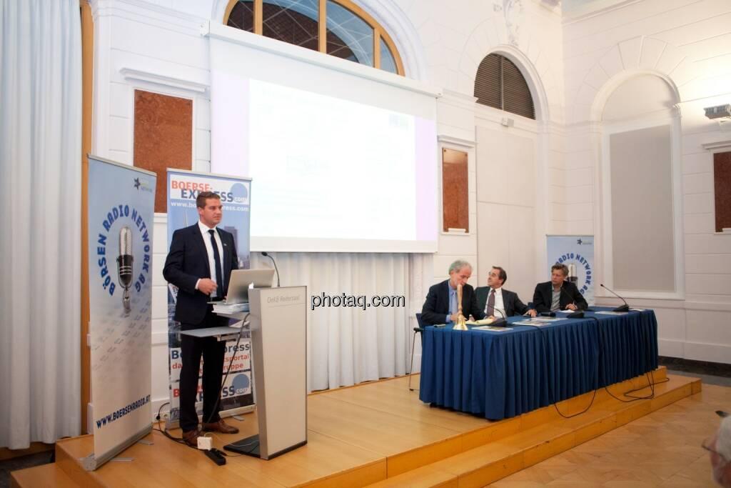 Lukas Scherzenlehner (Cleen Energy), Christian Drastil (BSN), Wolfgang Matejka (Matejka & Partner), Robert Gillinger (Börse Express), © Michaela Mejta (25.10.2016)