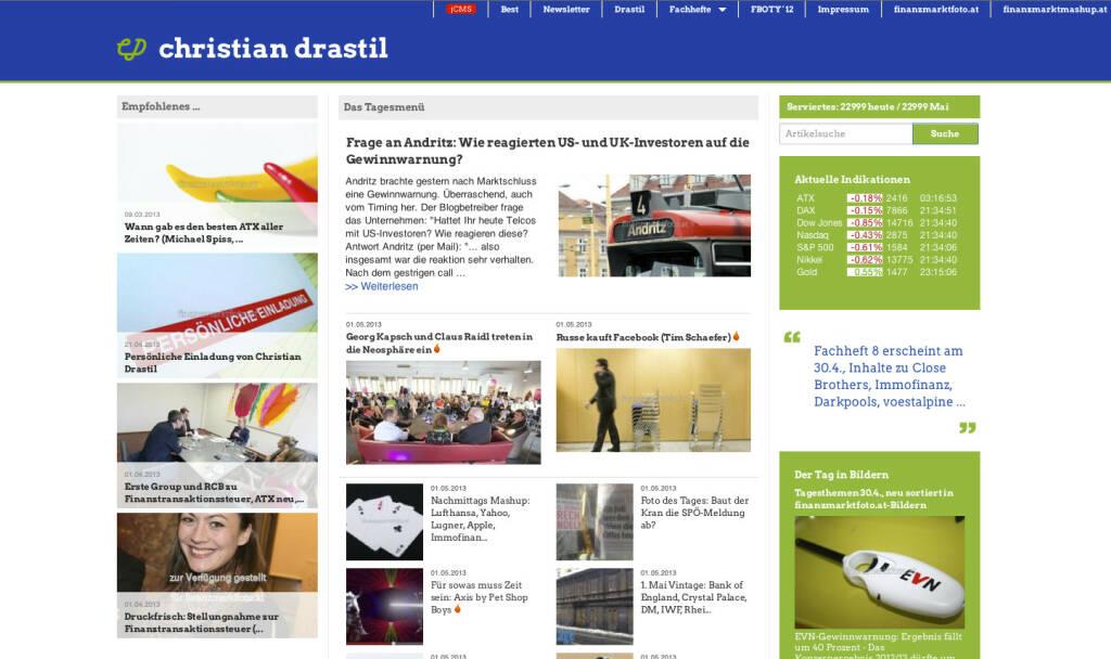 http://www.christian-drastil.com am 1.5.2013 Abends (01.05.2013)