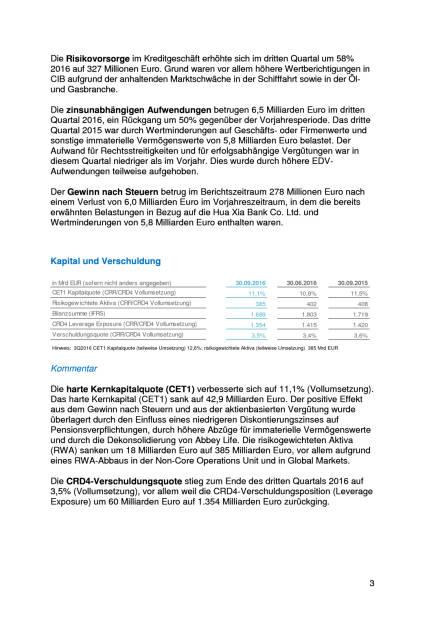 Deutsche Bank: 3. Quartal 2016, Seite 3/8, komplettes Dokument unter http://boerse-social.com/static/uploads/file_1936_deutsche_bank_3_quartal_2016.pdf (27.10.2016)