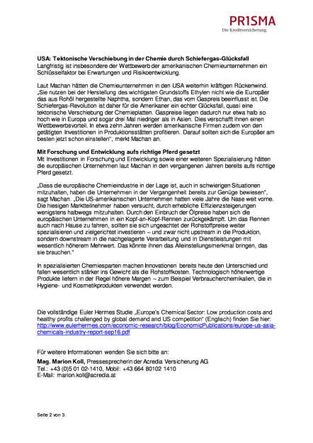Prisma Die Kreditversicherung: Kopf-an-Kopf-Rennen der Chemieunternehmen in Europa und den USA, Seite 2/3, komplettes Dokument unter http://boerse-social.com/static/uploads/file_1941_prisma_die_kreditversicherung_kopf-an-kopf-rennen_der_chemieunternehmen_in_europa_und_den_usa.pdf (27.10.2016)