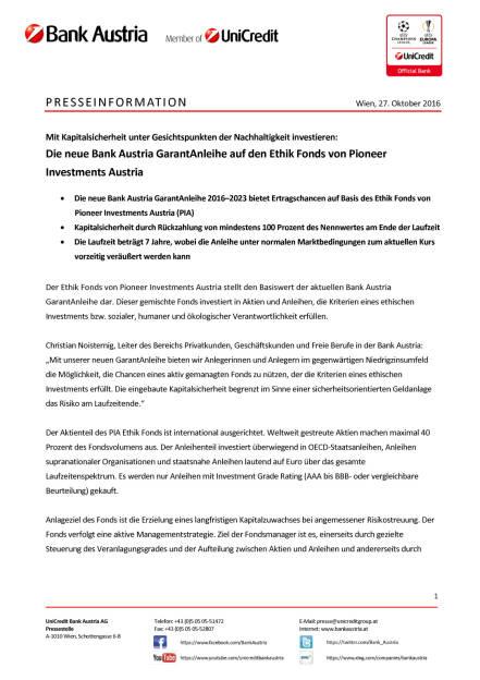 Bank Austria GarantAnleihe Pioneer Ethik Fonds, Seite 1/3, komplettes Dokument unter http://boerse-social.com/static/uploads/file_1942_bank_austria_garantanleihe_pioneer_ethik_fonds.pdf (27.10.2016)