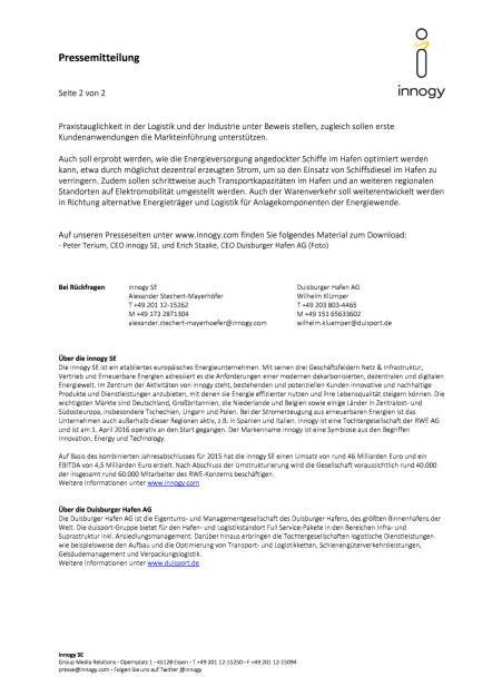innogy und Duisburger Hafen: strategische Partnerschaft, Seite 2/2, komplettes Dokument unter http://boerse-social.com/static/uploads/file_1945_innogy_und_duisburger_hafen_strategische_partnerschaft.pdf (27.10.2016)