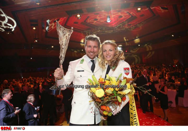 Thomas Zajac and Tanja Frank (AUT) Photo: GEPA pictures/ Christian Walgram