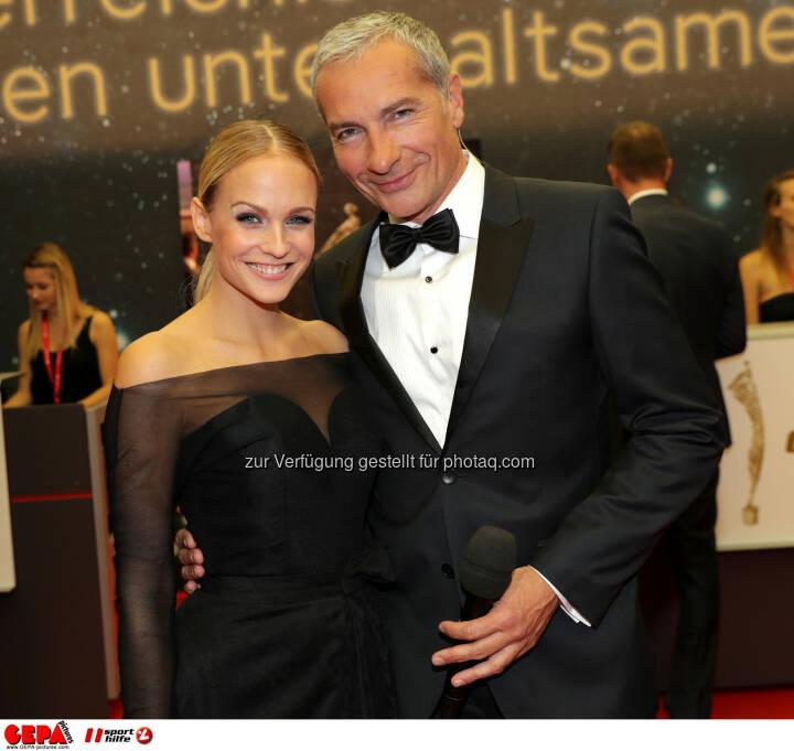 Mirjam Weichselbraun and Rainer Pariasek Photo: GEPA pictures/ Walter Luger