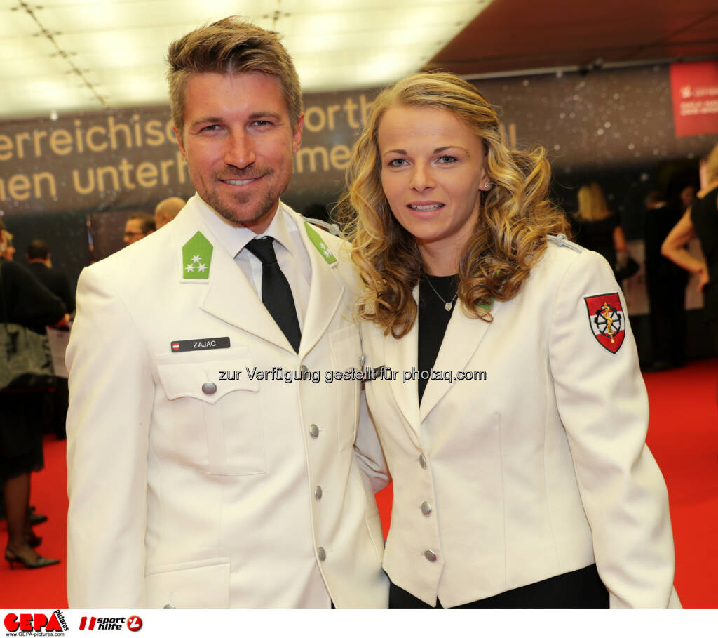 Thomas Zajac and Tanja Frank (AUT) Photo: GEPA pictures/ Walter Luger (28.10.2016)