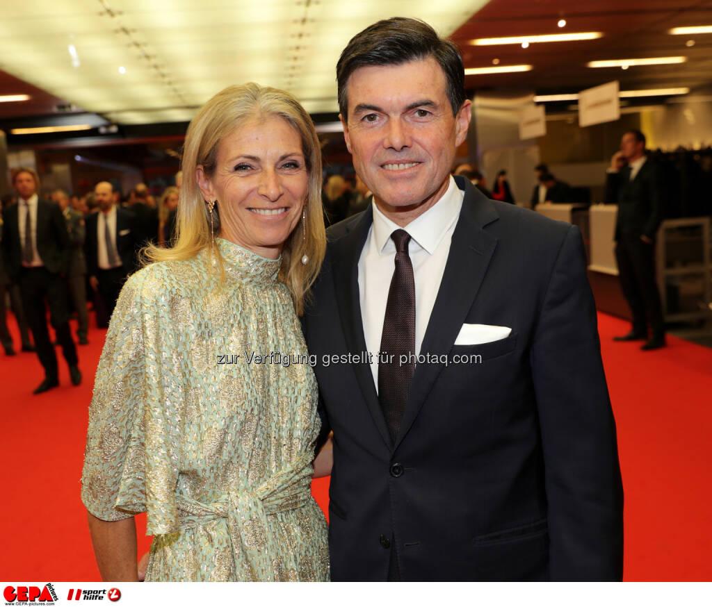 Claudia Neuper and Hubert Neuper. Photo: GEPA pictures/ Walter Luger (28.10.2016)