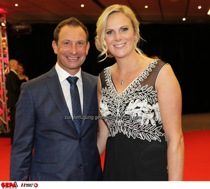 Nicole Hosp and her boyfriend Photo: GEPA pictures/ Walter Luger