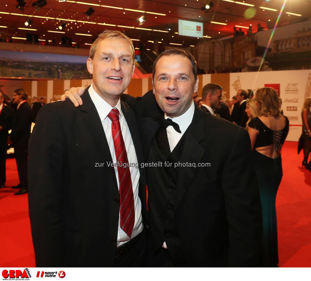 Markus Pichler and Philipp Bodzenta Photo: GEPA pictures/ Hans Oberlaender (28.10.2016)