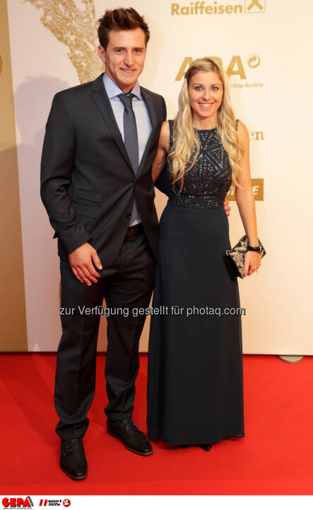 Matthias Mayer (AUT) and his girlfriend Photo: GEPA pictures/ Walter Luger