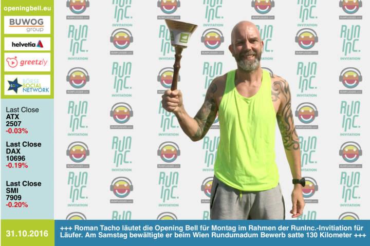 Roman Tacho läutet die Opening Bell für Montag im Rahmen der RunInc.-Invitiation für Läufer. Am Samstag bewältigte er beim Wien Rundumadum Bewerb satte 130 Kilometer http://www.wien-rundumadum.at/ http://www.runinc.at http://www.runplugged.com http://www.openingbell.eu