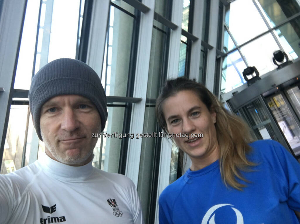 Viertelmarathon mit Carolina Burger, Uniqa (01.11.2016)