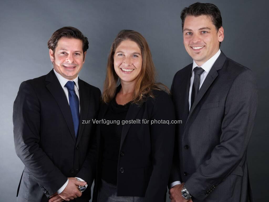 Michael Schwarzenbacher, Vera Led, Boris Grasser - Geschäftsführung Uniquare -  Angepasste Strategie und verstärkte Geschäftsführung bei Uniquare (Bild: Uniquare), © Aussender (03.11.2016)