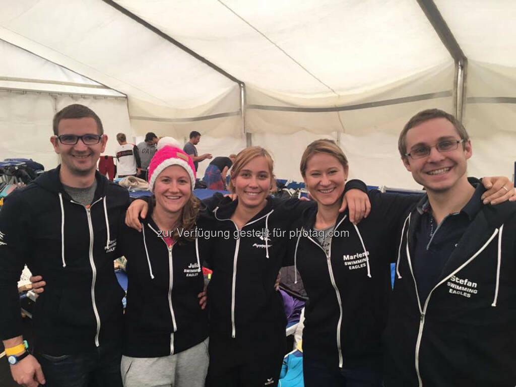 Martina Kaltenreiner: Team Swimming Eagles  Dani - Julia - Martina - Marlena - Stefan  Pic: Marlena Polec (05.11.2016)