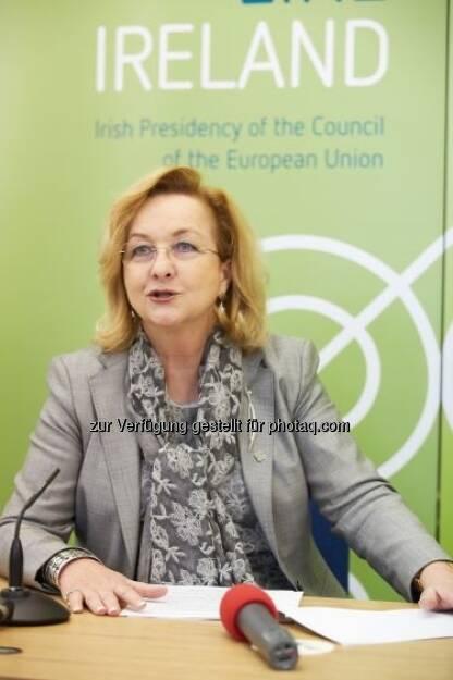 Maria Fekter beim informellen ECOFIN in Dublin, © BMF (02.05.2013)