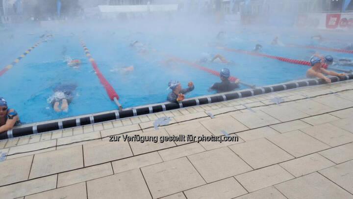 1 Chip pro Arm zur Zeitmessung - einmal die Arme raus aus dem Becken zur Registrierung der Anschläge © Marlena Polec