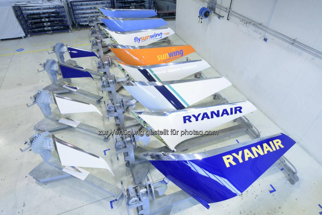 """FACC entwickelte und fertigt Winglets in unterschiedlichen Bauweisen für Flugzeughersteller und Airlines - FACC liefert 7.500stes Set Winglets an Kunden """"Aviation Partners"""" (Bild: FACC), © Aussendung (10.11.2016)"""