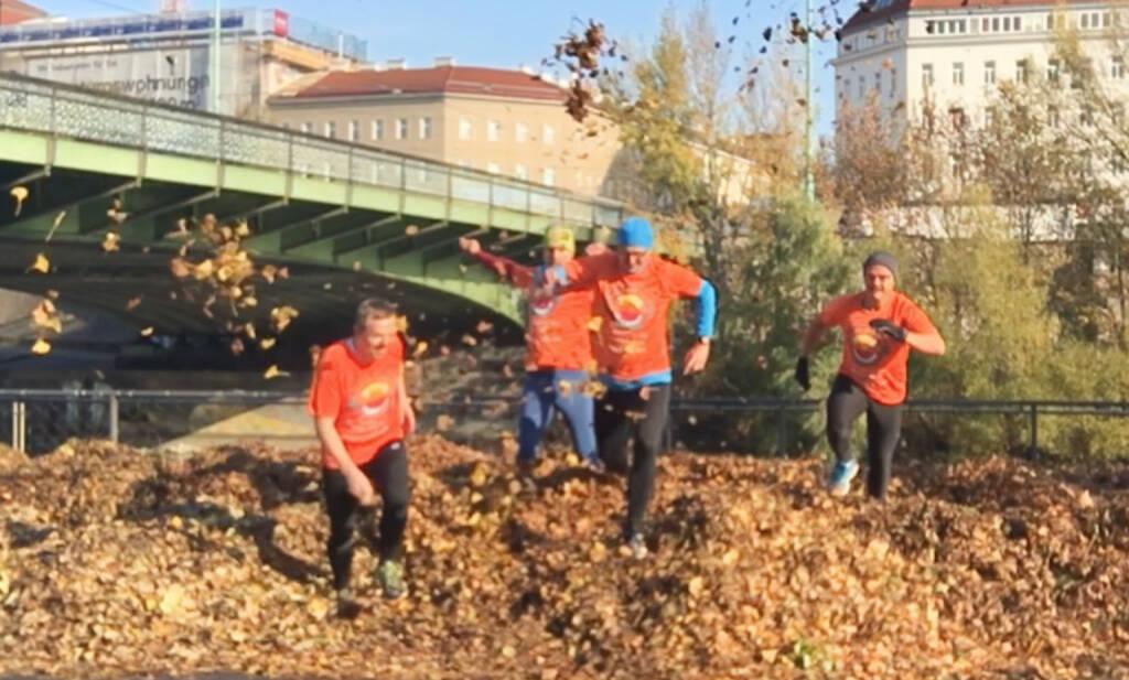 BSNgine Fintech Vormittag mit der Deutsche Bank: Abschliessender Action-Run in Runplugged (10.11.2016)