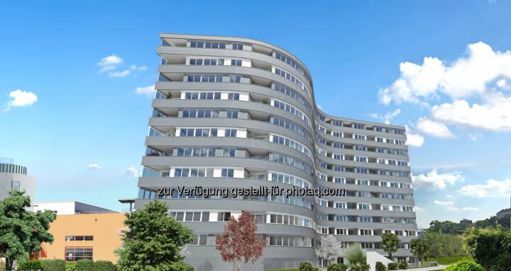 wohngut PANORAMA3: Leopold-Böhm-Straße 2, 1030 Wien - Rendering - Spatenstich für 177 Eigentumswohnungen im Erdberger Mais (Bild: wohngut Bauträger GmbH, Stan Hana)