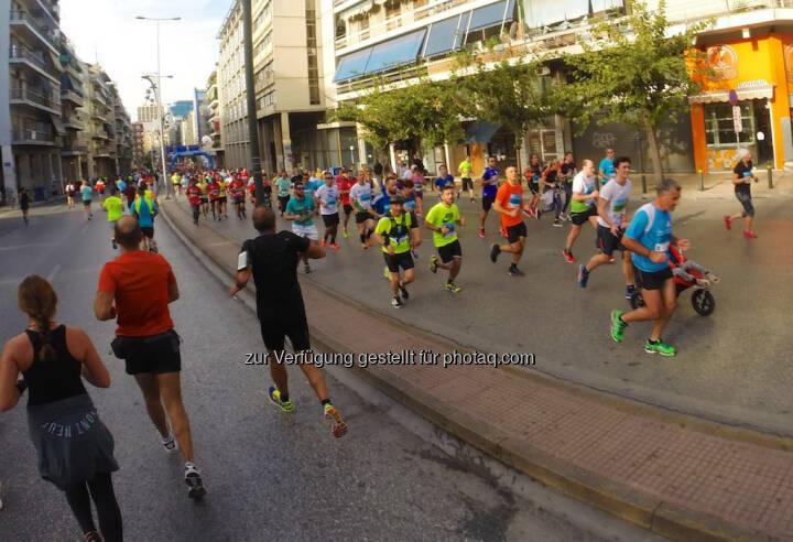 Athen Marathon, laufen