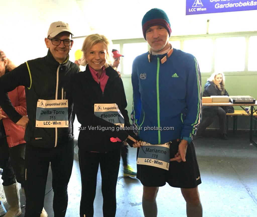 RCB: Klaus Della-Torre, Eleonore Leder, Marianne Kögel (mit deren Startnummer ich unterwegs war) (13.11.2016)