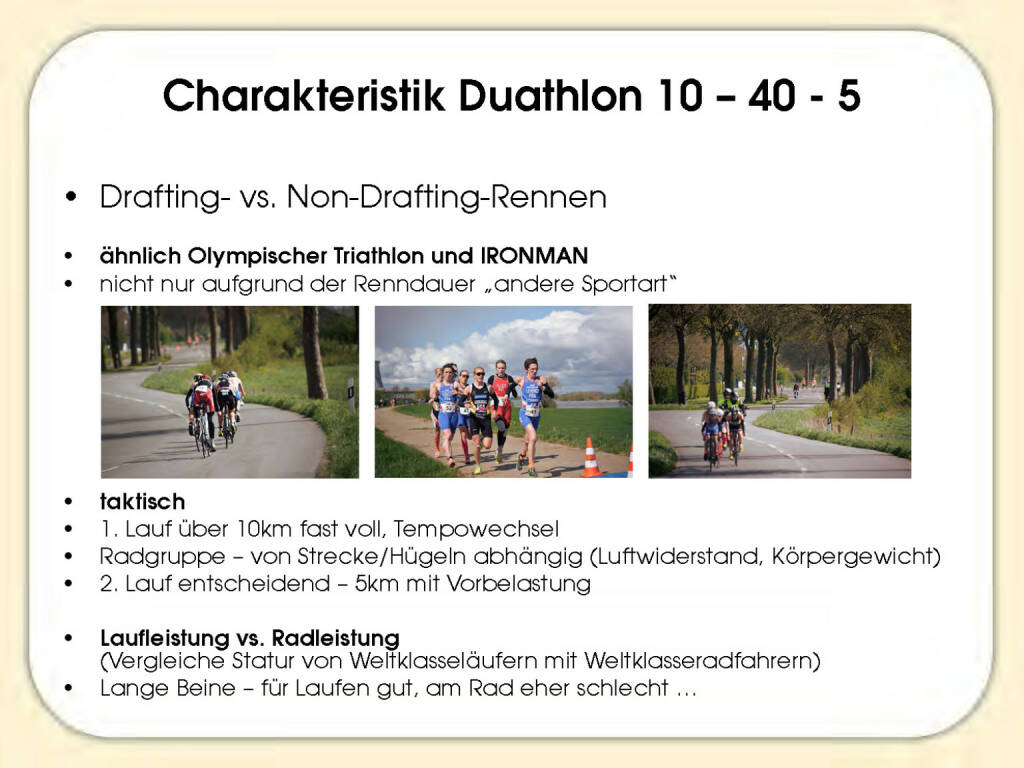 Charakteristik Duathlon - Sandrina Illes (15.11.2016)