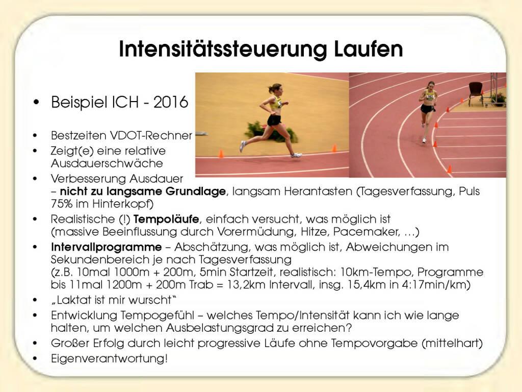 Intensitätssteuerung Laufen - Sandrina Illes (15.11.2016)