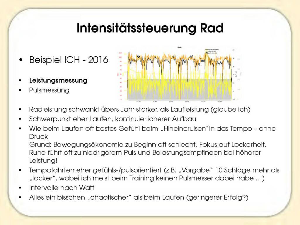 Intensitätssteuerung Rad - Sandrina Illes (15.11.2016)