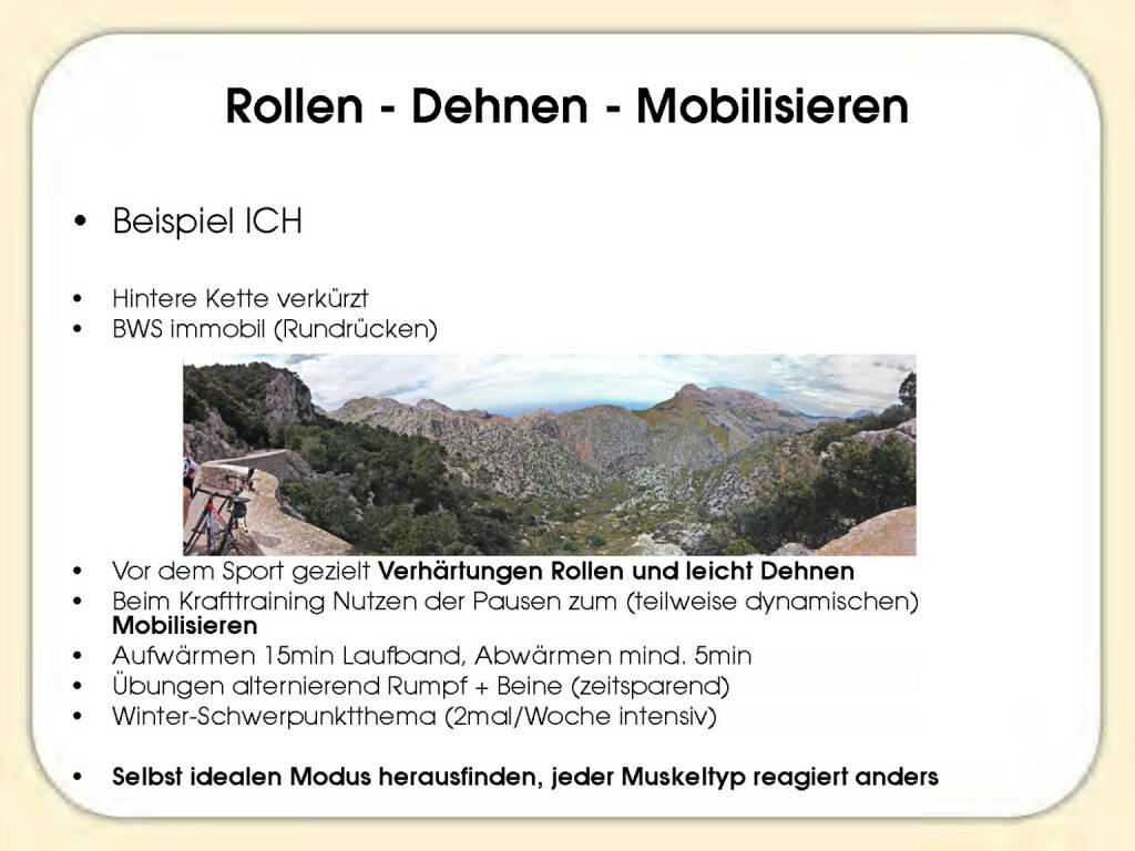 Rollen, Dehnen, Mobilisieren - Sandrina Illes (15.11.2016)